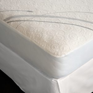 Suite Sleep Organic Cotton Stretch Knit Deep Pocket Mattress Protector