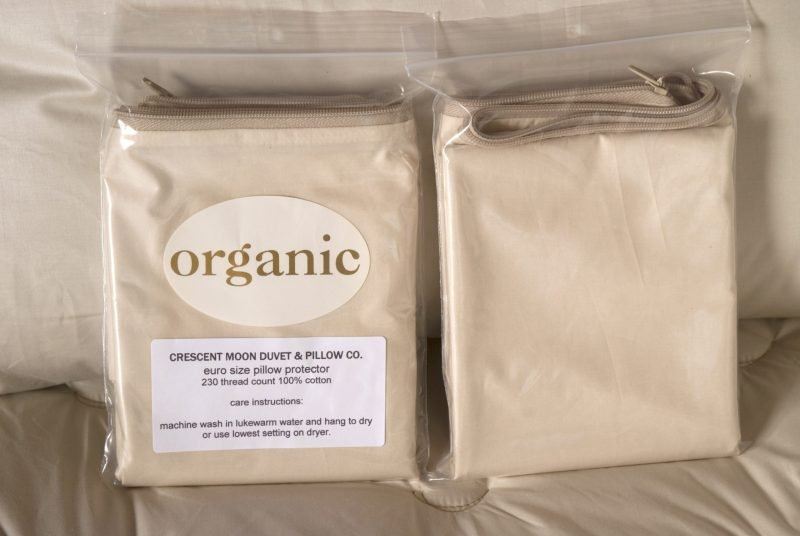 Crescent Moon Organic Dust Mite Pillow Cover and Encasement