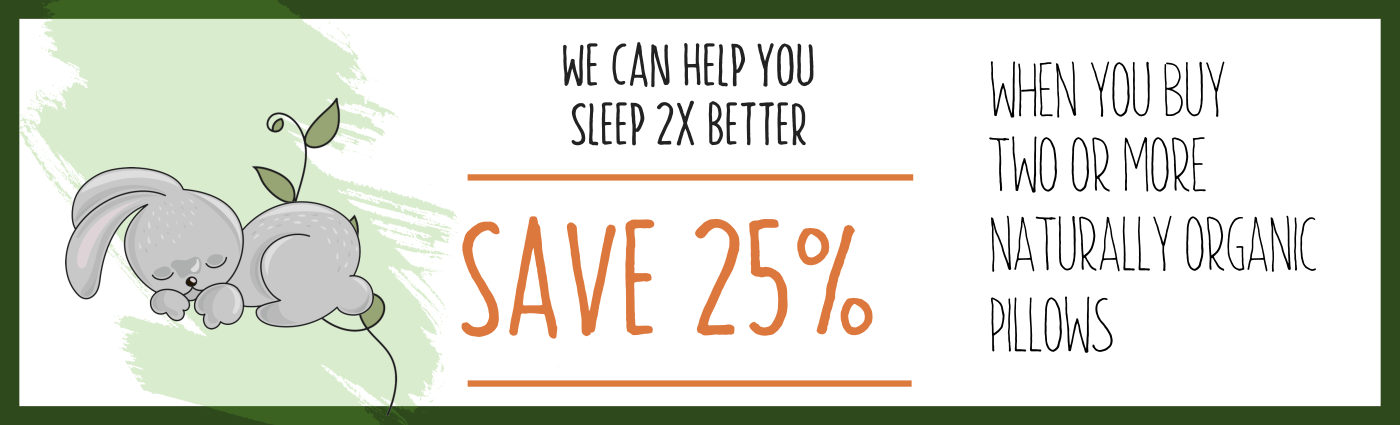 Naturally Organic Shredded Latex Pillow 25% off on 2 or more
