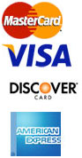We accept MC, Visa, Discover & AmEx